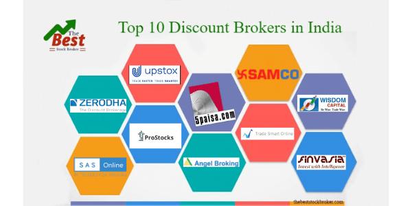 top 10 discount broker in india